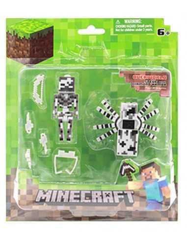 Набор Minecraft Всадник скелет и паук с аксессуарами