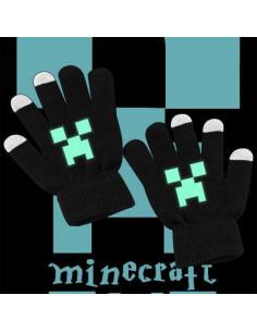 Cенсорные перчатки светящиеся детские Minecraft