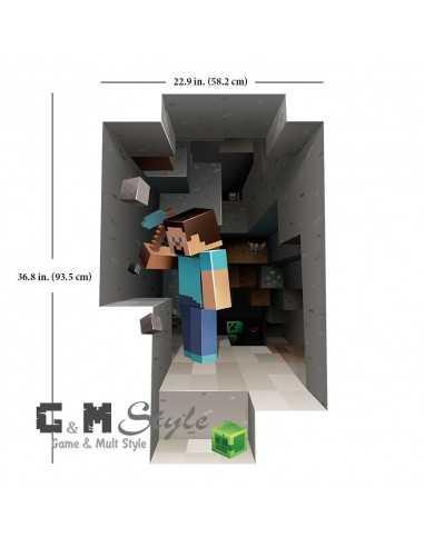 Наклейка стикер Minecraft интерьерная Стив большая