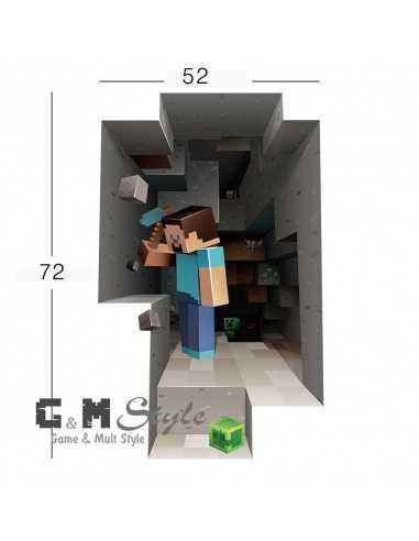 Наклейка стикер Minecraft интерьерная Стив