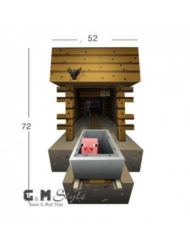 Наклейка стикер Minecraft интерьерная Свинка