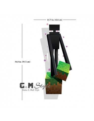 Наклейка стикер Minecraft интерьерная Эндэрмэн большая