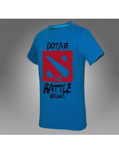 Футболка Dota2 The Battle Beginds синяя