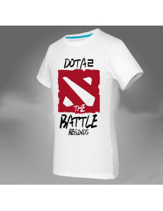 Футболка Dota2 The Battle Beginds белая