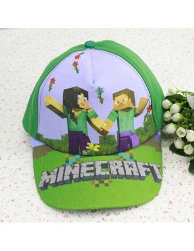 Кепка блайзер детская Minecraft зеленая