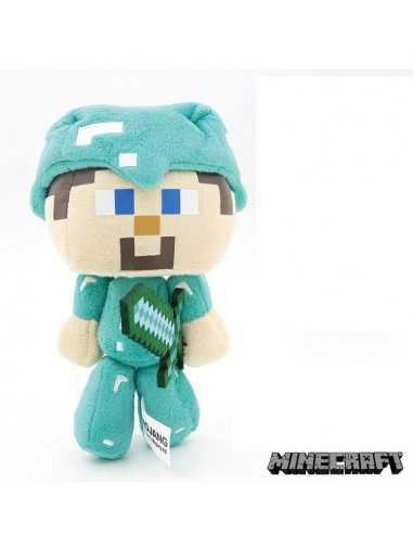 Мягкая игрушка Стив в алмазной броне большой Майнкрафт