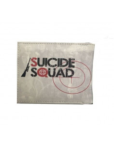 Кошелек бумажник Suicide Squad серый