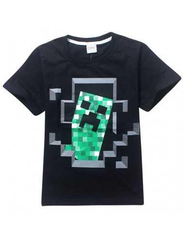 Футболка Minecraft Крипер чёрная