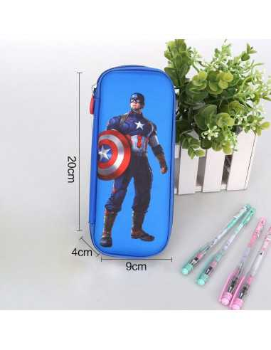Пенал Marvel Captain America синий