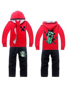 Спортивный костюм на мальчика Minecraft красный