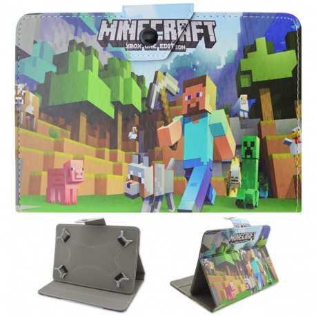 """Универсальный чехол для 7"""" планшета Minecraft зеленый"""