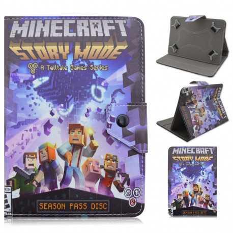 """Универсальный чехол для 7"""" планшета Minecraft синий"""