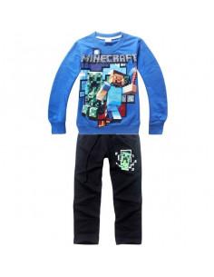 Костюм на мальчика Minecraft сине-черный