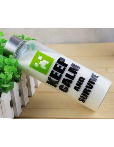 Бутылка для напитков Minecraft стекло