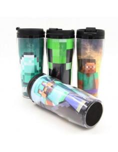 Терморужка для напитков Minecraft 350 мл пластик
