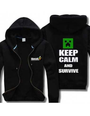 Толстовка Minecraft Крипер Ceep Calm and Survive