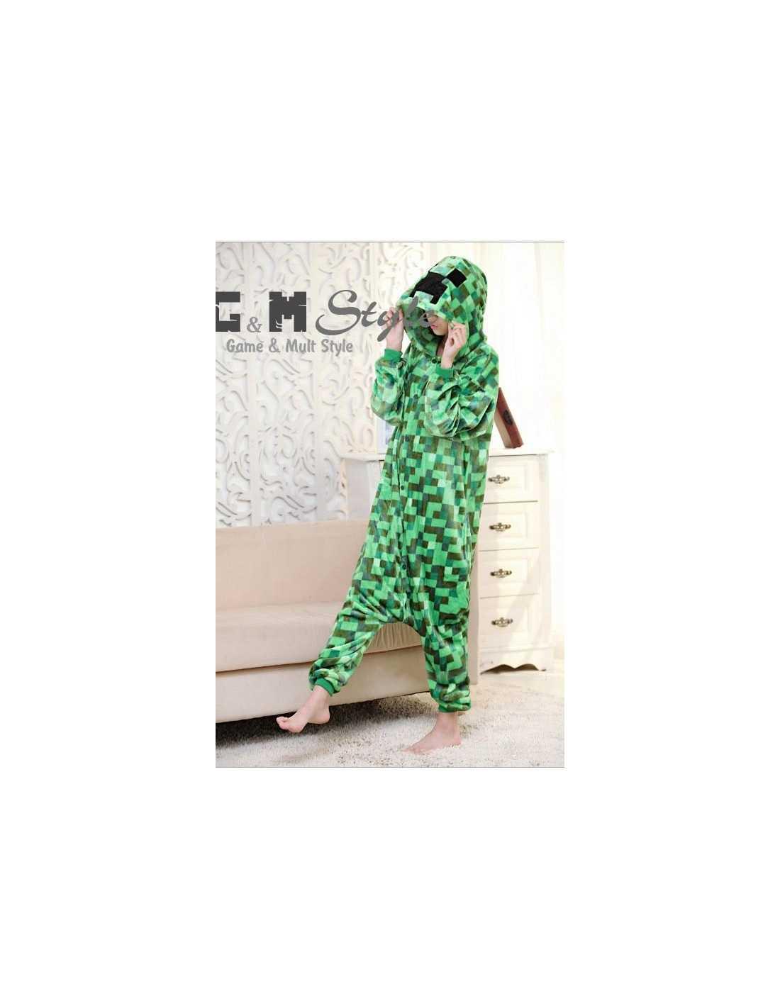 Флисовый карнавальный костюм пижама Minecraft Creeper