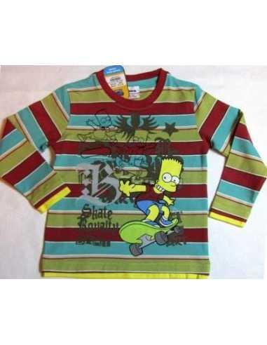 Реглан в полоску Симпсон Simpsons на скейте