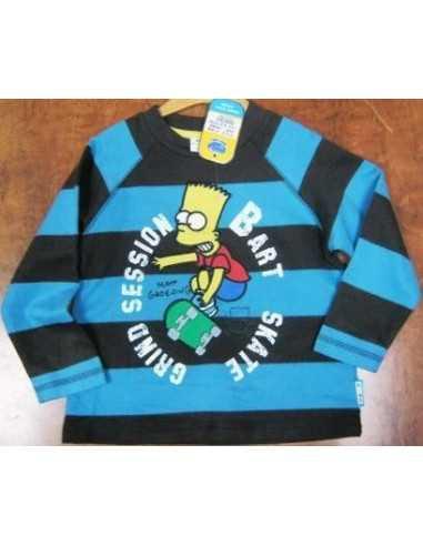 Футболка-длинный рукав в полоску Симпсоны Simpsons А1496