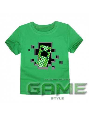 Футболка Minecraft Creeper зеленая