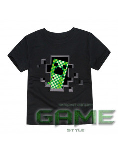 Футболка Minecraft Creeper черная