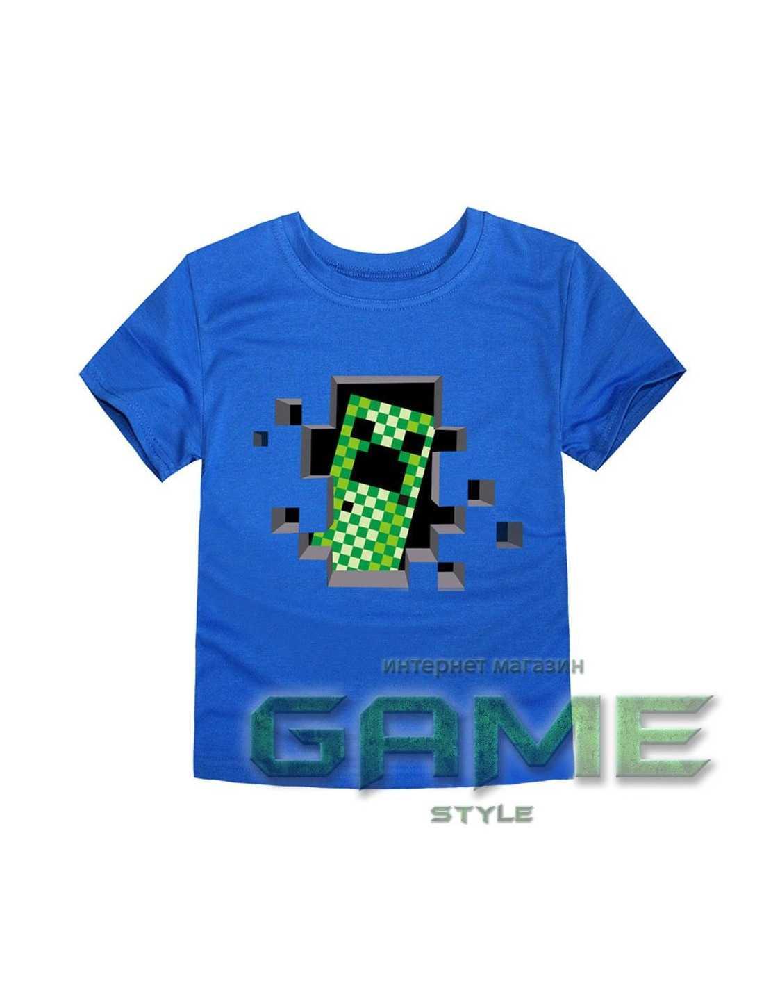 Футболка Minecraft Creeper черная