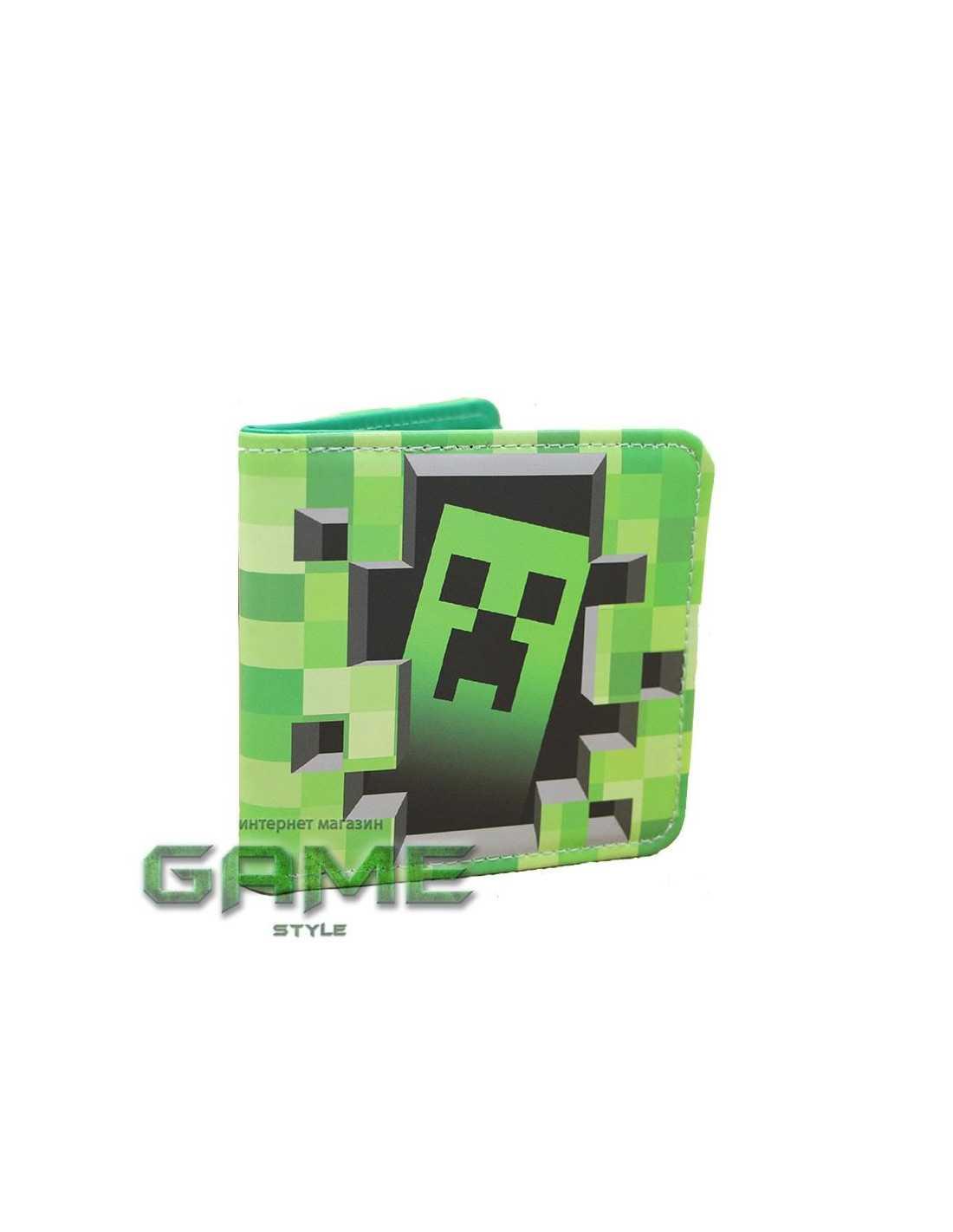 Кошелек бумажник Creeper Майнкрафт