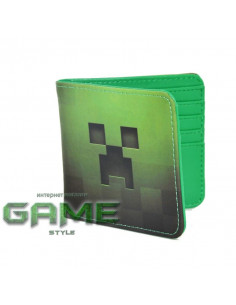 Кошелек бумажник Minecraft Creeper кожезаменитель оригинал от Jinx
