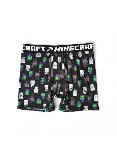 Трусы боксеры для мальчиков Minecraft черные
