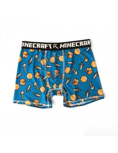 Трусы боксеры для мальчиков Minecraft синие