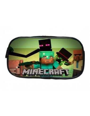 Пенал большой школьный Minecraft Стив и компания