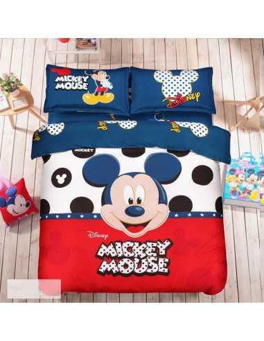 Детское постельное белье Mickey Mouse красно-синий