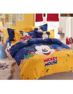 Детское постельное белье Mickey Mouse желто-синий