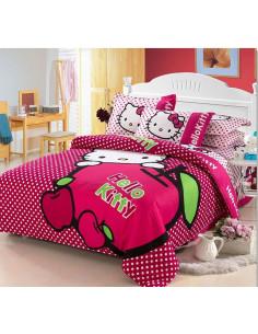 Детское постельное белье Hello Kitty вишня