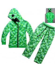 Спортивный карнавальный костюм на мальчика Minecraft Creeper зеленый