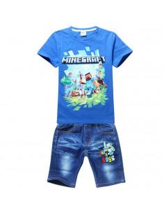 Комплект на мальчика Minecraft синий
