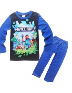 Пижама Minecraft темно-синяя