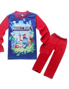 Пижама Minecraft Герои красно-синяя
