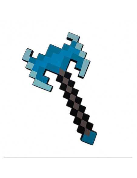 Пиксельный алмазный двойной топор Майнкрафт Minecraft Diamond Double Bladed Axe