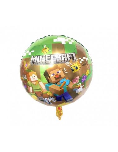 Шарик воздушный Minecraft надувной фольгированный