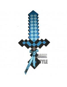 Пиксельный алмазный меч Майнкрафт Minecraft Diamond Sword