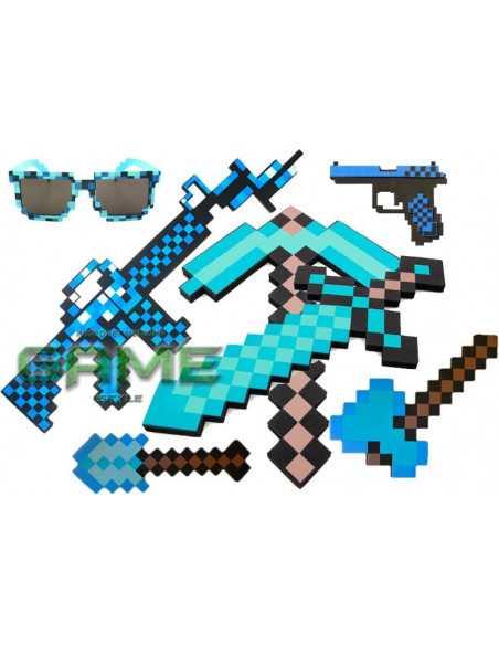 Полный подарочный набор оружия Minecraft состав комплекта