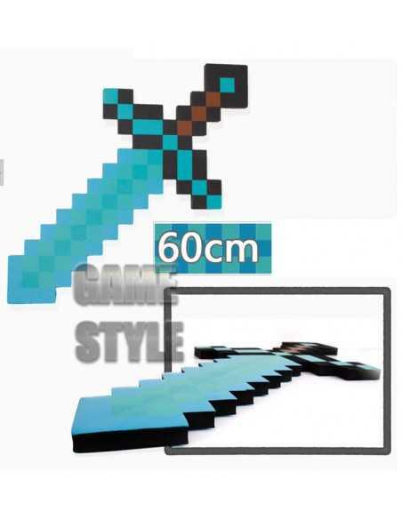 Пиксельный алмазный меч Майнкрафт Minecraft размеры