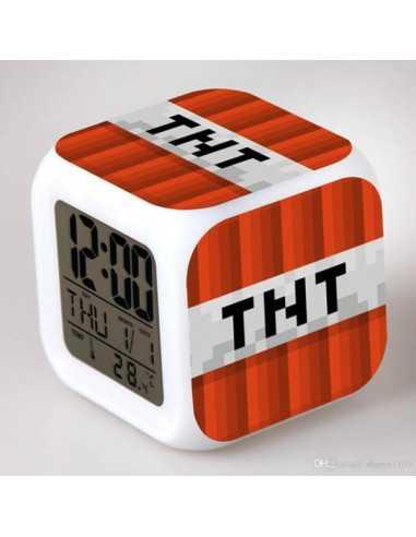 Часы будильник Minecraft TNT хамелеон