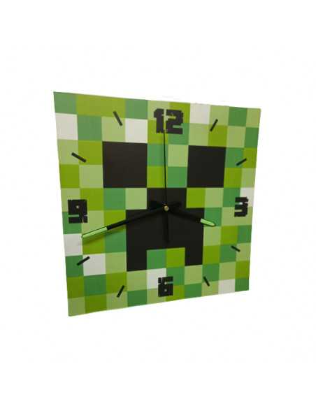Часы настенные Minecraft Creeper квадратные