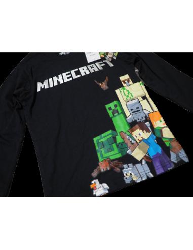 Свитшот Minecraft герои черный 128