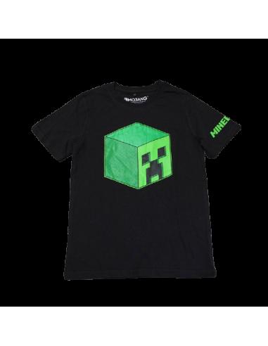 Футболка Creeper Head Minecraft черная