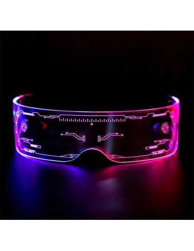 Очки в стиле Киберпанк LED подсветка