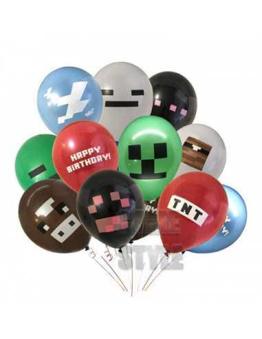 Набор воздушных шаров из латекса Minecraft Pixel Minecraft Ballon Set