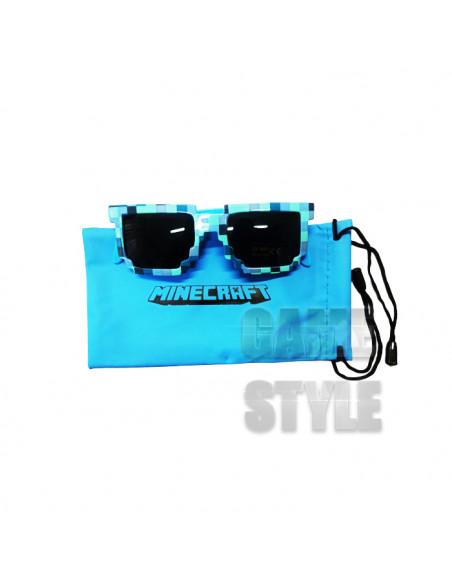 Детские солнцезащитные очки Майнкрафт синие